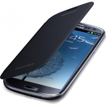 Husa Samsung Flip Cover pentru i9300 Galaxy S III Black EFC-1G6FSECSTD