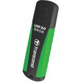 Memorie USB Transcend JetFlash 810 64GB USB 3.0 Rugged Green/Black TS64GJF810