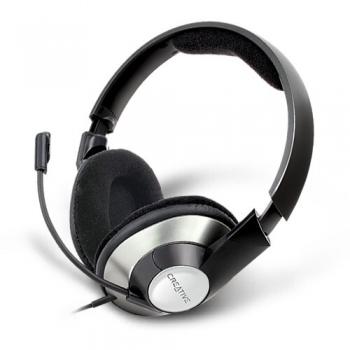 Casti Creative HS-620 cu microfon si control de volum negru-argintii 51EF0390AA002