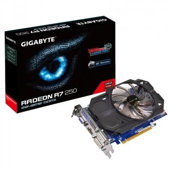Placa Video Gigabyte AMD Radeon R7 250 rev. 3.0 2GB GDDR3 128 bit PCI-E x16 3.0 VGA DVI HDMI GV-R725OC-2GI REV 3.0