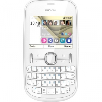 Telefon Mobil Nokia Asha 201 White NOK201WHT