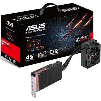 Placa Video Asus AMD Radeon R9 FURY X 4GB HBM 4096 bit PCI-E x16 3.0 HDMI DisplayPort R9FURYX-4G