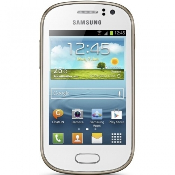 Telefon Mobil Samsung Galaxy Fame S6810 White 1GHz memorie interna 4GB Android 4.1 SAMS6810WHT