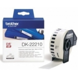 Banda Continua Hartie Brother DK22210 Dimensiune 29mm x 30.48m black on white