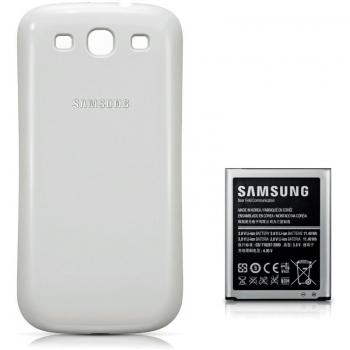Baterie telefon Samsung EB-K1G6UWUGSTD 3000mAh + Capac acumulator Alb pentru Galaxy S III i9300