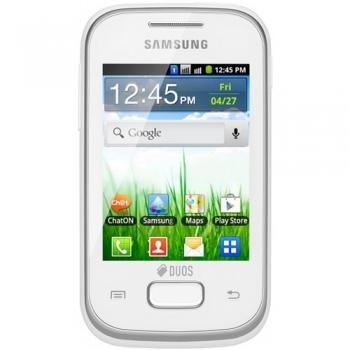 "Telefon Mobil Samsung Galaxy Pocket S5302 Duos White Dual SIM 2.8"" 240 x 320 ARM 11 832MHz memorie interna 3GB Camera Foto 2MPx Android v2.3 SAMS5302WHT"