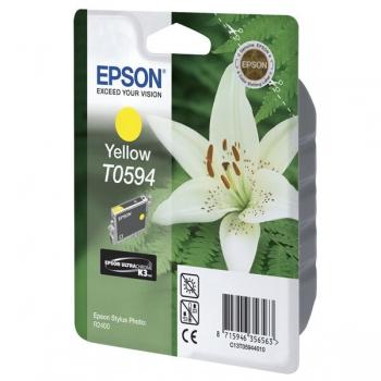 Cartus Cerneala Epson T0594 Yellow 13ml for Stylus Photo R2400 C13T05944010