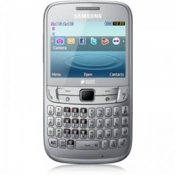 Telefon Mobil Samsung Chat S3572 Dual Sim Silver qwerty WiFi SAMS3573SLV