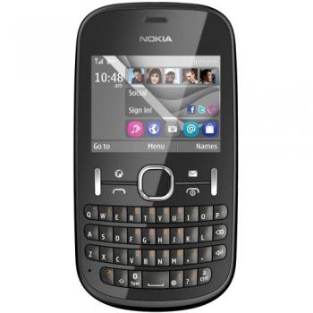 Telefon Mobil Nokia Asha 201 Graphite tastatura qwerty NOK201G
