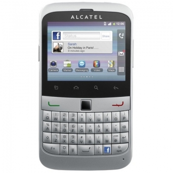 Telefon Mobil Alcatel One Touch 916 Silver 3G 600MHz Android v2.3 tastatura qwerty Camera Foto 3.15 MPx ALC916SLV