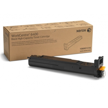 Cartus Toner Xerox 106R01316 Black 12000 Pagini for WorkCentre 6400S, 6400X