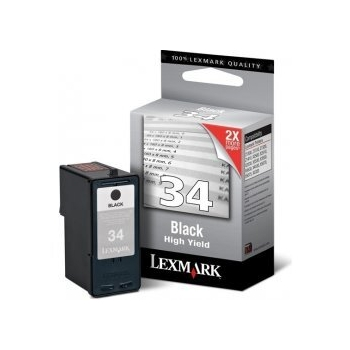 LEXMARK 18C0034BL INK BK CTG BLISTER AM