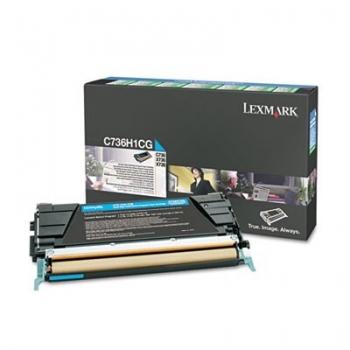 Cartus Toner Lexmark C736H1CG Cyan Return Program 10000 pagini for C736DN, C736DTN, C736N, X736DE, X738DE, X738DTE