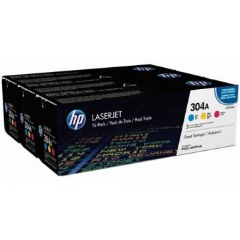 Pachet Cartus Toner HP Nr. 304A C/M/Y 3x2800 Pagini for Laserjet Pro CP2025, CM2320mfp CF372AM