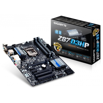 Placa de baza Gigabyte Z87-D3HP Socket 1150 Chipset Intel Z87 4x DIMM DDR3 2x PCI-E x16 3.0 2x PCI-E x1 2x PCI HDMI DVI VGA 6x USB 3.0 ATX