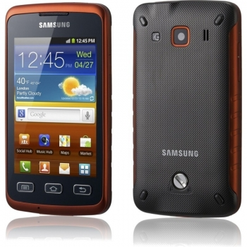 "Telefon Mobil Samsung Galaxy Xcover S5690 Black Orange Marvell 3.2"" 320 x 480 Gorilla Glass MG2 800Mhz Android v2.3 SAMS5690BLK"