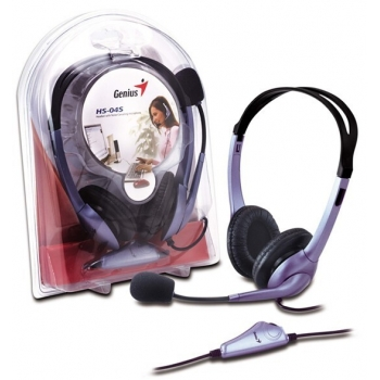 Casti Genius HS-04S cu microfon si control de volum violet 31710025100