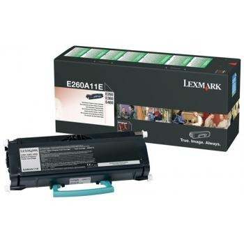 Cartus Toner Lexmark E260A11E Black Return Program 3500 pagini for E260, E260D, E260DN, E360D, E360DN, E460DN, E460DW, E462DTN