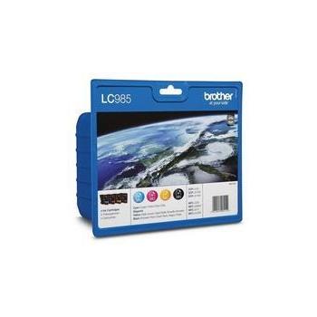 Cartus Cerneala Brother LC985VALBP Value Blister Pack BK/C/M/Y capaciatate 1 x 300, 3 x 260 pagini for DCPJ125, DCPJ315, DCPJ515,