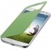 Husa Samsung S-View pentru Galaxy S4 i9500 , I9505 Cover Yellow Green EF-CI950BGEGWW