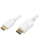Cablu DisplayPort - HDMI LogiLink CV0055 White 2m