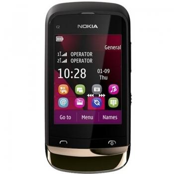 Telefon Mobil Nokia C2-03 Black Gold Dual Sim Touch NOKC2-03GSMGLD