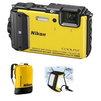 Model : COOLPIX WATERPROOF AW130 Diving Kit (yellow), Rezolutie : , Senzor : , Sistem procesare a imaginii : , Zoom optic : , Zoom digital : , Stabilizator imagine : , Sensibilitate : , Timp de expunere : , Viteza de declansare : , Blit : , Ecran : , Inre