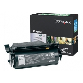 Cartus Toner Lexmark 12A6860 Black Capacitate 10000 pagini for T620, T620DN, T620N, T622, T622DN, T622N