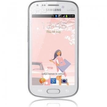 "Telefon Mobil Samsung Galaxy S Duos S7562 White La Fleur Dual SIM 4"" 480 x 800 Cortex A5 1GHz memorie interna 4GB Camera Foto 5MPx Android v4.0 SAMS7562WHTLF"