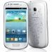 Telefon Mobil Samsung Galaxy S3 Mini i8190 White La Fleur Cortex A9 Dual Core 1.0GHz 8GB Android 4.1 Husa Protectie SI8190WF+EFC-1M7BWEGSTD
