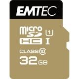 Card Memorie MicroSDHC Emtec Gold Plus 32GB Clasa 10 UHS-I + Adaptor SD ECMSDM32GHC10GP