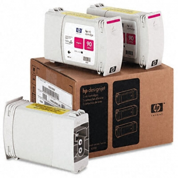 Cartus Cerneala HP 90 Magenta 3-pack 400 ml for Designjet 4000 4500 series C5084A