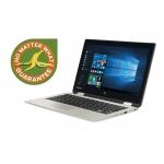 "Laptop Toshiba Satellite Radius 11 L10W-B-102 Convertible Ultrabook Intel Pentium Bay Trail-M N3540 up to 2.66GHz 4GB DDR3L HDD 500GB Intel HD Graphics Gen 7 11.6"" HD Touch Windows 8.1 Satin Gold PSKVUE-00200JG6"