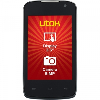 "Telefon UTOK D35 Cortex 3.5"" 320 x 480 A7 Dual Core MT6572M 1GHz memorie interna 4GB Camera Foto 5MPx Android v4.4"
