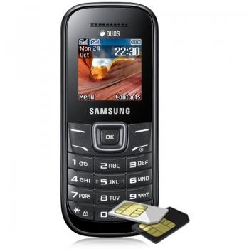 Telefon Mobil Samsung E1202 Black Dual SIM SAME1202BLK