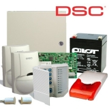 Kit DSC KIT 1616-INT 1 x centrala PC1616 (tastatura inclusa), 1 x transformator TC45/16, 1 x acumulator PL-5AH, 2 x detectori LC100PCI cu suporti originali LC-MBS, 1 x sirena de interior cu flash LD95, 1 x contact magnetic aparent MC-06W
