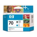 Cap Printare HP Nr. 70 Matte Black & Cyan for Designjet Z2100 24', Z2100 44' Q6677A, Z2100 44' Q6677C, Z3200 24', Z3200 44', Z3200PS 24', Z3200PS 44', Z5200PS, Photosmart B8850, Pro B9180 C9404A