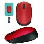 Mouse Wireless Logitech M171 optic 1000dpi 3 butoane USB red 910-004641