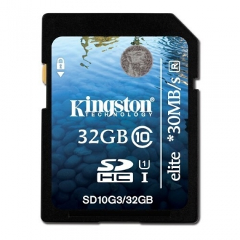 Card Memorie SDHC Kingston 32GB Clasa de viteza 10 SD10G3/32GB