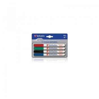 Marker Verbatim multimedia 4 culori 44120