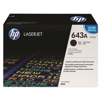 Cartus Toner HP Nr. 643A Black 11000 Pagini for Color LaserJet 4700, 4700DN, 4700DTN, 4700N Q5950A
