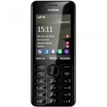 Telefon Mobil Nokia 206 Black Dual SIM NOK206DSBLK