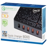 Incarcator retea GSM Arctic Quick Charger 8000, Universal, 5x USB, Quick Charge 2.0