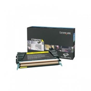 Cartus Toner Lexmark C736H2YG Yellow High Yield 10000 pagini for C736DN, C736DTN, C736N, X736DE, X738DE, X738DTE