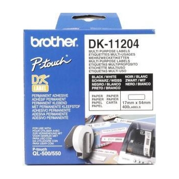 Rola Etichete Brother DK11204 Dimensiune 17 x 54 mm black on white