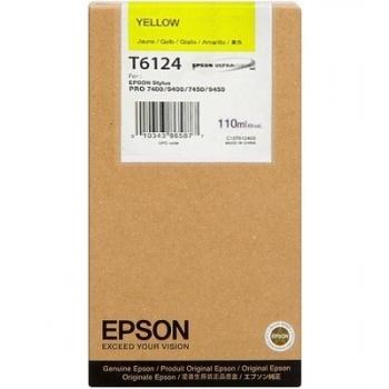Cartus Cerneala Epson T6124 Yellow 220ml for Stylus Pro 7400, Stylus Pro 7450, Stylus Pro 9400, Stylus Pro 9450 C13T612400