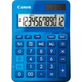 Calculator birou Canon LS123KBL albastru, 12 digiti, ribbon, display LCD, functie business, tax si conversie moneda
