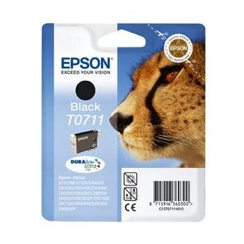 Cartus Cerneala Epson T0711 Black 5.5ml for Stylus D78, DX 4000, 4050, 5000, 5050, 6000, 6050, 7000F C13T07114011