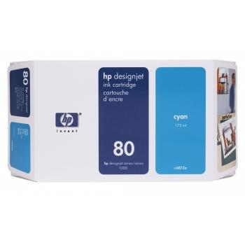 Cartus Cerneala HP Nr. 80 Cyan 175 ml for Designjet 1050, Designjet 1055 C4872A