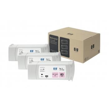 Pachet Cartus Cerneala HP Nr. 83 UV Light Magenta 3 Bucati for Designjet 5000/UV, Designjet 5500 42', Designjet 5500 60', Designjet 5500 PS 42', Designjet 5500 PS 60' C5077A